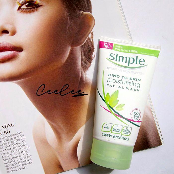 sua rua mat simple moisturising facial wash 150ml cho da kho anh 3