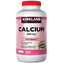 Bổ sung Canxi Kirkland Calcium 600mg + D3 - Hộp 500 viên của Mỹ